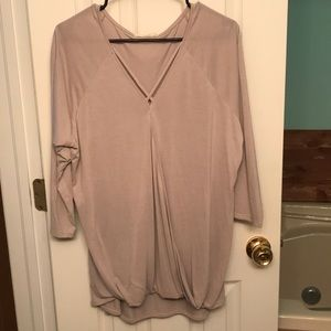 Grey quarter length sleeve blouse
